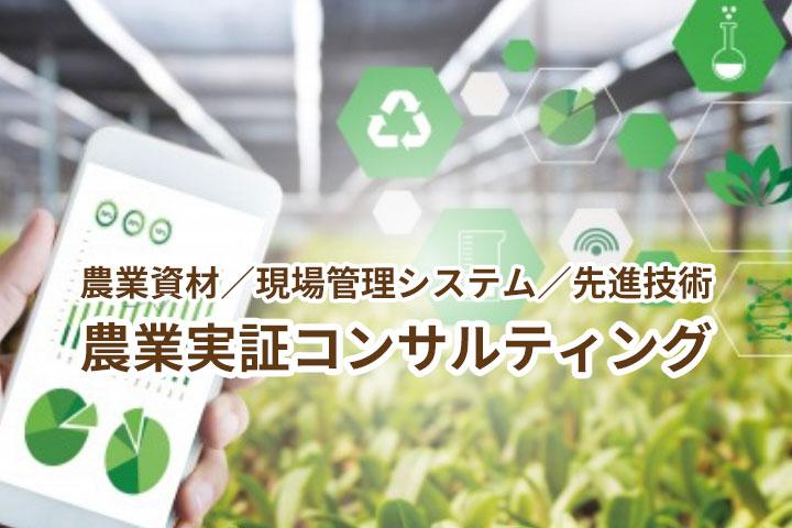 農業資材/現場管理システム/先進技術 農業実証コンサルティング